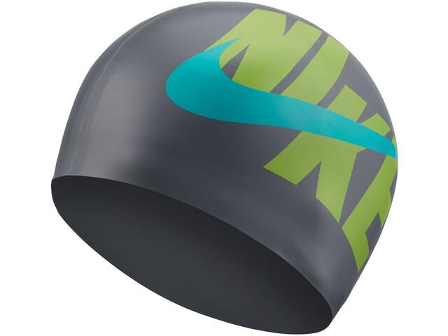 Nike Swim Logo Bonnet de bain en silicone, particle grey